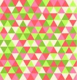 Retro geometrisch driehoek naadloos het herhalen patroon als achtergrond Mozaïek van diverse schaduwen royalty-vrije illustratie