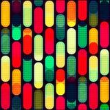 Retro- geometrisch gefärbt Nahtloses Muster vektor abbildung