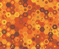 Retro geometrisch hexagon naadloos patroon Stock Foto's