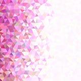 Retro- geometrischer chaotischer regelmäßiger Dreieckhintergrund stock abbildung