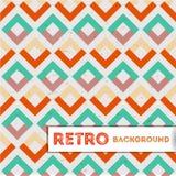 Retro- geometrischer Hintergrund Lizenzfreies Stockbild