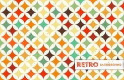 Retro- geometrischer Hintergrund Lizenzfreie Stockfotografie