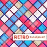 Retro- geometrischer Hintergrund Stockfotografie