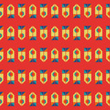 Retro- geometrisches Muster Stockbild