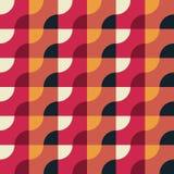 Retro- geometrisches rotes Muster Stockbilder