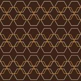 Retro geometrisk grafisk sömlös sexhörningsmodell för honungskaka stock illustrationer