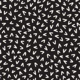 Retro geometryczni kreskowych kształtów bezszwowi wzory Abstrakcjonistyczne bigos tekstury Czarny i biały rozrzuceni kształty Fotografia Stock