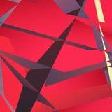 Retro geometryczny tło z kolorowymi trójbokami Obraz Stock