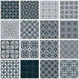 Retro geplaatste tegels naadloze patronen Stock Afbeelding