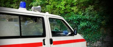 Retro German Ambulance Car Fragment Royalty Free Stock Photo