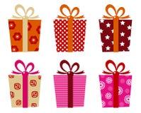 Retro- Geschenke eingestellt Lizenzfreie Stockbilder