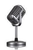 Retro geïsoleerdeg microfoon Stock Afbeelding