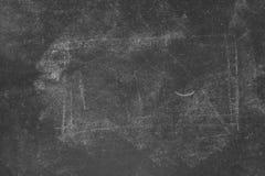 Retro gestemd vuil schoolbord met krijttekens royalty-vrije stock foto's