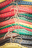 Retro gestileerd beeld van oude kledingshangers Stock Foto