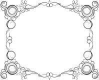 Retro-gestileerd decoratief uitstekend vectorkader Vector Illustratio Royalty-vrije Stock Fotografie