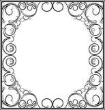 Retro-gestileerd decoratief uitstekend vectorkader Vector Illustratio Stock Afbeeldingen