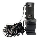 Retro-gestileerd geïsoleerded videocassettes. Royalty-vrije Stock Foto's