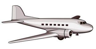 Retro gestileerd lijnvliegtuig Stock Fotografie