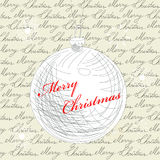 Retro gestileerde Kerstmiskaart Stock Afbeelding