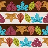 Retro gestileerde naadloze patroon van bladeren Stock Foto's