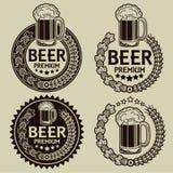 Retro Gestileerde Verbindingen/de Etiketten van het Bier Royalty-vrije Stock Afbeelding
