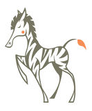 Retro gestileerde Zebra Stock Fotografie
