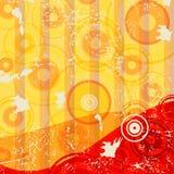 Retro- gestreifter grunge Hintergrund stock abbildung