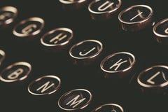 Retro- getonte Weinleseschreibmaschinenschlüssel Lizenzfreie Stockfotos