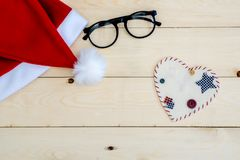Retro- getonter Santa Claus-Hut Stockfotografie