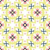 Retro Getrokken Daisy Floral Vector Pattern Hand, Naadloze Uitstekende Stijlbloem vector illustratie