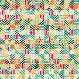 Retro- Gewebe kreist nahtloses Muster ein Stockfoto
