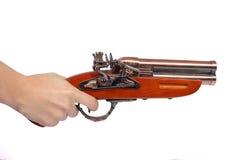 Retro- Gewehrschuß Stockbild