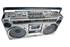 Retro ghetto blaster Stock Photo
