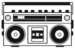 Retro ghetto blaster Stock Photos
