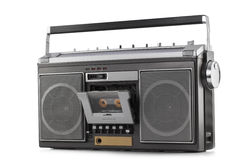 Retro ghetto blaster isolated on white Stock Image