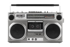 Retro ghetto blaster, isolated on white with clipping path Stock Image