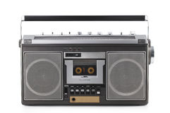 Retro ghetto blaster isolated on white with clipping path Royalty Free Stock Image