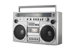 Retro ghetto blaster isolated on white with clipping path Royalty Free Stock Photography