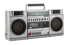Retro ghetto blaster isolated on white with clipping path Stock Photography