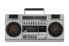 Retro ghetto blaster isolated on white with clipping path Royalty Free Stock Images