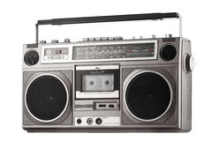Retro ghetto blaster isolated on white with clipping path Stock Images