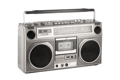 Retro ghetto blaster isolated on white with clipping path Stock Image