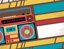 Retro Ghetto Blaster Stereo Club Flyer. Royalty Free Stock Image