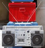 Retro- ghettoblaster Stockbild