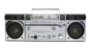 Retro ghettoblaster royalty free stock photography