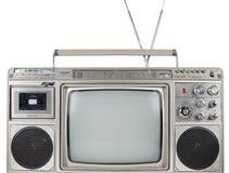 Retro- ghettoblaster Fernsehen Stockfotos