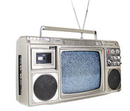 Retro ghettoblaster television. A fantastic looking retro ghetto blaster with built in television Stock Image