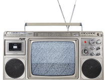 Retro ghettoblaster television. A fantastic looking retro ghetto blaster with built in television Royalty Free Stock Photos
