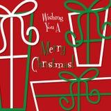 Retro gift Christmas card Royalty Free Stock Photo