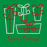 Retro gift Christmas card Royalty Free Stock Images